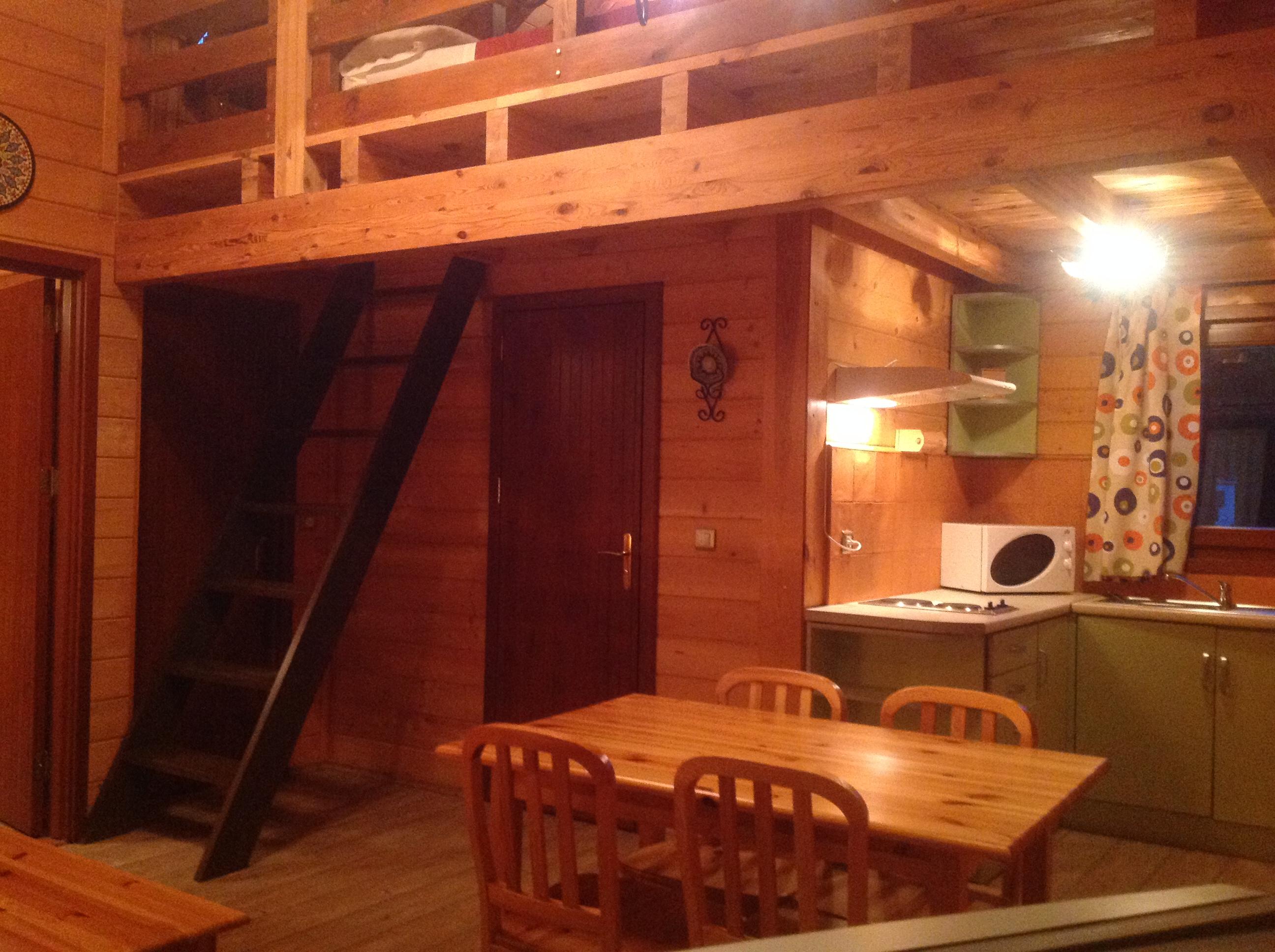 Caba as de madera el retiro de don quijote for Cocina inglesa de la cabana